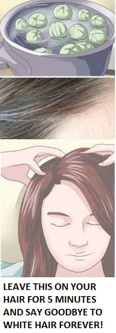 GOODBYE WHITE HAIR! LEAVE THIS ON YOUR HAIR FOR 5 MINUTES AND SAY GOODBYE TO WHITE HAIR FOREVER!