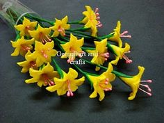 The New Clay News: Yellow Blossoms Tutorial