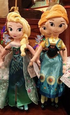 "Disney Store ""Frozen Fever"" Plush Dolls 