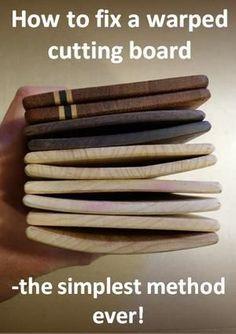 How to fix a warped cutting board