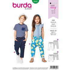 cf3e23d2ee Burda Style Pattern B9342 Child s Elastic Waistband Pants Burda Sewing  Patterns