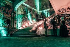 A shot of the candlelit interior of the abandoned Chateau in the Bois de Boulogne. Rothschild Party, Rothschild Mansion, Old Mansions, Abandoned Mansions, Abandoned Places, Saint Chapelle, Party Organisers, Secret Party, The Catacombs
