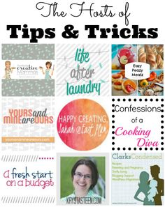 Tips and Tricks Linky Party - Confessions of a Cooking Diva