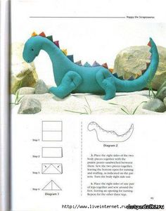Free Dragon Felt Plush Pattern and Tutorial