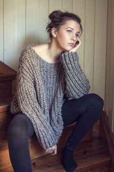 Ravelry: Ribbed Knit Sweater by Katrine Hammer