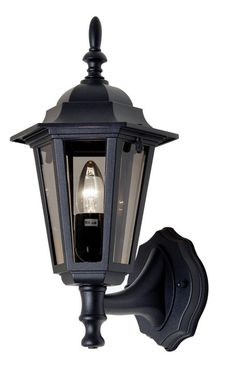 Traditional Black Outdoor Wall Light Haxby