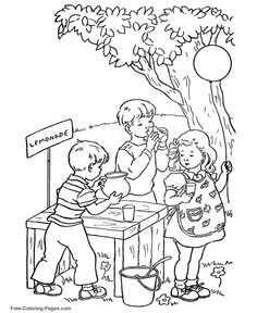 Summer Coloring Book Pictures