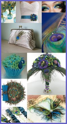 Peacock Feathers Wedding Theme. Peacock Wedding Bouquet. http://memorablewedding.blogspot.com/2013/10/are-peacock-wedding-feathers-right-for.html