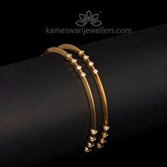 Elegant gold bangles collections by Kameswari Jewellers. Buy gold bangles online from South India's finest goldsmiths with 9 decades of expertise. Gold Bangles Design, Gold Earrings Designs, Gold Jewellery Design, Gold Designs, Bracelet Designs, Gold Jewelry Simple, Diamond Bangle, Diamond Necklaces, Bracelets
