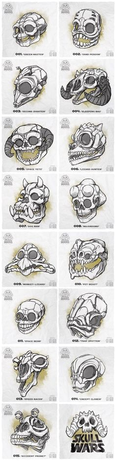 A collection of 15 skulls inspired by the creatures and characters of Star Wars. Backers receive nylon copies of skulls!