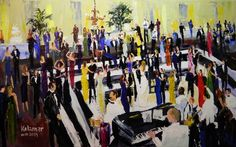 live painting of event to auction off