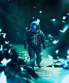 Astronaut By Nagy Norbert Space Artwork, Wallpaper Space, Galaxy Wallpaper, Space Odity, Blue Space, Green Wallpaper, Astronaut Drawing, Astronaut Wallpaper, Aesthetic Space
