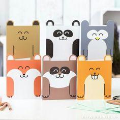 Kawaii design tarjetas