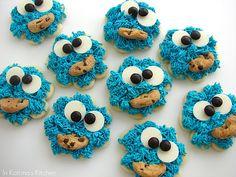 Cookie Monster Cookies http://www.inkatrinaskitchen.com/2011/04/cookie-monster-cookies.html