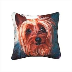 Manual Woodworkers Paws and Whiskers Dog Breed Pillows Breed: Yorkshire Terrier - Dog Beds and Furniture Throws