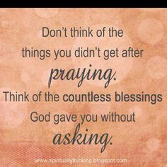 Enough said - forgive me Lord for the times I mumble when my prayer isn't answered my way!