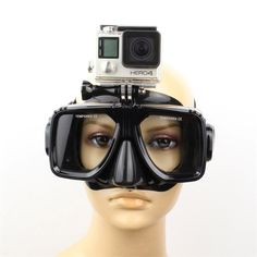 Gopro Accessories Swim Glasses Scuba Diving Mask Mount for Go Pro Hero 5/3/3+/4 SJ4000/5000/6000 Xiaomi yi Action Camera Cam
