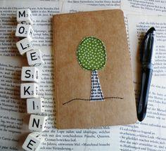 """das besondere Notizbuch """"ein Baum"""" von das-war-mal---- auf DaWanda.com"""