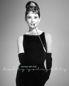 Real art for a fictitious world. Buying art for Holly Golightly