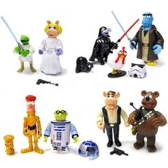 I NEED THIS!!! muppets star wars toys- what!?  I've never seen some of these before!
