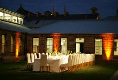 The Mint. Dinner on the lawn