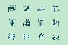 Builging Icons by rodchenko design on @creativemarket