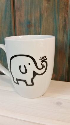 Elephant coffee mug elephant mug unique mug by TravelingTreeDesign