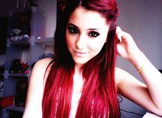 ariana grande, cute, doe eyes, eyeliner, red hair
