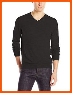 7c26f13a38d French Connection Men's Merino Basics V-Neck Sweater, Black, Small - Mens  world