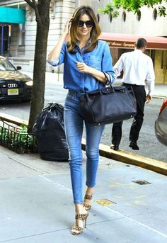 Miranda Kerr and more celebs show us how to rock denim on denim - see all the outfits by clicking