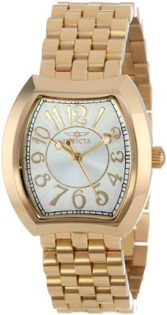 Women  Watches - Invicta Womens 15039 Angel Silver Dial 18k Gold IonPlated Stainless Steel Watch *** Want additional info? Click on the image. (This is an Amazon affiliate link)
