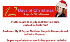 12 Days of Christmas - Nonprofit Gifts Giveaway Free Christmas Gifts, 12 Days Of Christmas, Holiday Fun, Grant Writing, Non Profit, Tis The Season, Good News, Stocking Stuffers, Join