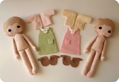 Ideas for dolls and clothes #feltdolls