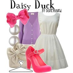 Daisy Duck, created by lalakay on Polyvore