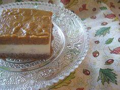 Layered Pumpkin Cheesecake with Pecan Crust