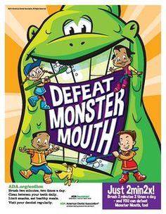 #2min2x and kids can defeat mouth monsters. #Dental #OralHygiene