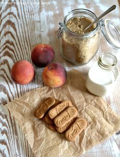 If you're anything like me, you start craving juicy summer fruit way before summer arrives and before perfectly ripe fruit hits the farmers . Biscoff Biscuits, Biscoff Cookies, Appetizer Recipes, Dessert Recipes, Appetizers, Brown Sugar Peaches, A Food, Food And Drink, Summer Desserts