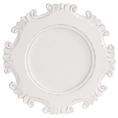 Carved White Charger Plate | Pier 1 Imports