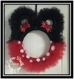 Mickey or Minnie Mouse Red and Black Tulle Wreath – Cypress . Mickey Mouse Wreath, Disney Wreath, Mickey Mouse Christmas, Disney Christmas, Christmas Fun, Christmas Decorations, Christmas Ornaments, Christmas Booth, Ribbon Decorations