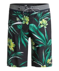 Mens Boys Short Floral Flowers Plants Berries The Arts Swim Trunks with Mesh Lining Quick Dry Swim Suits Board Shorts
