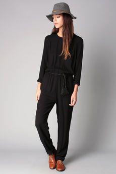 Sessun -  - Combi-pantalon noire dos décolleté Malice