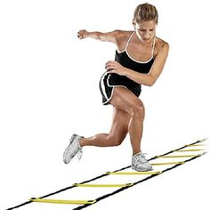 "This is my review of the SKLZ Quick Flat Rung Agility Ladder with Free SKLZ Carry Bag on Amazon!  This product is great for coaches, personal trainers and those trying to improve their fitness and work in different plyometric exercises.  If you enjoy my review (and picture of the product being used at home), please mark it as ""helpful"" on the Amazon link!  Runners, cyclists, swimmers, soccer, basketball, football, all sports!"