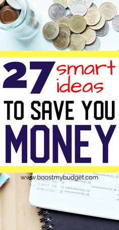 27 smart ideas for saving money. forget frugal living, I want to enjoy the mon. Save Money On Groceries, Save Your Money, Ways To Save Money, Money Tips, Groceries Budget, Frugal Living Tips, Frugal Tips, Money Saving Challenge, Saving Money
