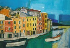 Titolo:Veduta di Portofino acrilico e pastello su cartoncino di Gabriele Donelli  http://lacortedifelsina.oneminutesite.it
