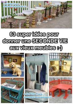 Vous aimez donner une seconde vie aux vieux objets ? Alors ça tombe bien car nous aussi on adore ! Nous avons sélectionné pour vous les 63 meilleures idées récup' pour décorer la maison et le jardin.  Découvrez l'astuce ici : http://www.comment-economiser.fr/63-super-idees-pour-donner-une-seconde-vie-aux-vieux-meubles.html?utm_content=bufferc02f7&utm_medium=social&utm_source=pinterest.com&utm_campaign=buffer