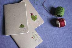 DIY | Sketchbook com bordado de cactos #EMBROIDERY #DIY #CACTUS