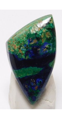 We just added a new product online Azurite Malachite.... You can see it at: http://www.unconventionallapidarist.com/products/azurite-malachite-cabochon-32mm-x-18-5mm-x-5-5mm-azurcabs2317?utm_campaign=social_autopilot&utm_source=pin&utm_medium=pin
