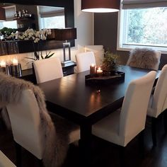 Ideas for house cute decor kitchens Cozy Living Rooms, Living Room Modern, Interior Design Living Room, Living Room Decor, Dining Room Table Decor, Dining Room Design, Dinner Room, Home Decor Furniture, Room Inspiration