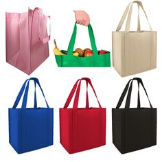 fce8d559c 100gm Non-Woven Reusable Stand Up Shopping Tote Bags - GN45