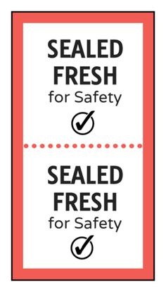 """Sealed Fresh"" Food Packaging Safety Seal - OnlineLabels.com"